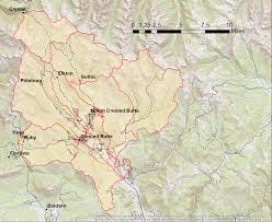 Study United States Map by Helicopter Study To Map Beneath Mountain Watershed Near Crested Butte