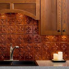 Copper Kitchen Backsplash by Fasade Pattern Moonstone Copper Backsplashes Countertops