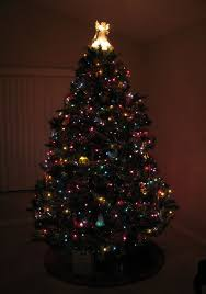 christmas tree with colored lights kathryn s quest advent calendar of christmas memories christmas trees