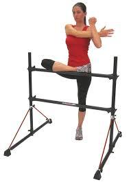 amazon com vita vibe fb4 fitness barre freestanding stretch