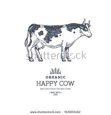 farm cow design template cow illustration stock vector 633479537