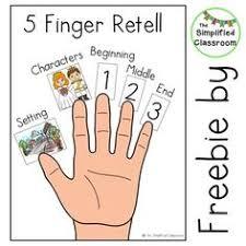 five finger retell poster worksheet five fingers finger and