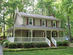 Farmhouse With Wrap Around Porch Story House Plans With Wrap Around Porch Exteriors Pinterest