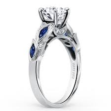 sapphire engagement rings kirk kara blue sapphire dahlia marquise leaf engagement ring