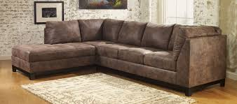 Ashley Furniture Leather Sectional With Chaise Buy Ashley Furniture 9770067 9770016 Damis Mocha Laf Corner Chaise