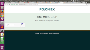 java poloniex api also taking us to the security check page