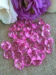 gems for table decorations 100 pink confetti 3 4 table decorations