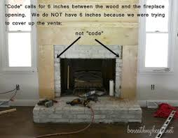 How To Cover Brick Fireplace by How To Build A Fireplace Surround Beneath My Heart