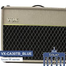 vox ac30 2x12 extension cabinet vx ca30tb blue guitar impulse response ir library based on a vox ac30