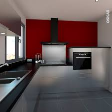cuisine sur un pan de mur cuisine style industriel cuisine décor inox effet