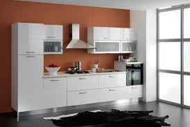 interior glossy kitchen decoration with modern stainless steel