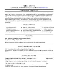 a professional resume template for an automotive apprentice want