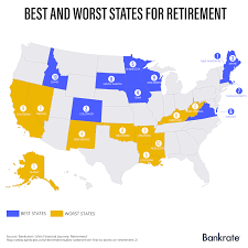 States Ive Been To Map by Where Are The Best And Worst States To Retire Bankrate Com