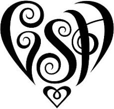 initial heart tatoo designs clip art library