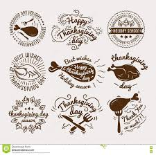 thanksgiving labels set of labels design template to thanksgiving day black icons