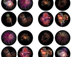 New Years Cupcake Decorations by Firework Cake Topper Etsy Uk