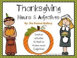 thanksgiving nouns adjectives by the peanut gallery tpt