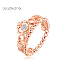 crown rings jewelry images Quality 925 sterling rose gold color ring with crystal crown ring jpg