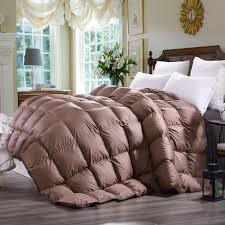 Goose Down Comforter Queen Amazon Com C U0026w Down Comforter King Size Hypo Allergenic 600 Fp 65