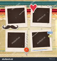 collage photo frame on vintage background stock vector 428634985