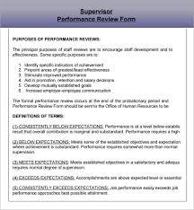 sample supervisor evaluation 6 documents in pdf
