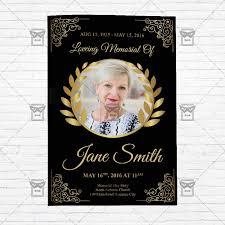 2 fold brochure template psd funeral program vol3 premium bi fold brochure template