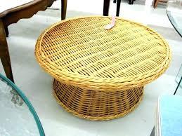 round rattan side table wicker side table cbat info