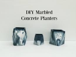 Concrete Succulent Planter Diy Marbled Concrete Planters The Row House Nest