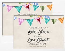 baby shower save the date baby shower save etsy