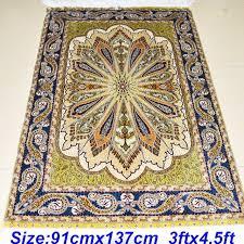 3x4 Area Rugs Mingxin 3x4 5ft Antique Silk Muslim Carpet Knotted Grass