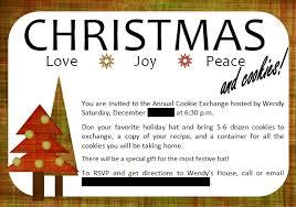 christmas invitation gift exchange wording cogimbo us