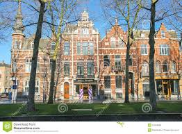 beautiful old house in the center of den bosch editorial photo