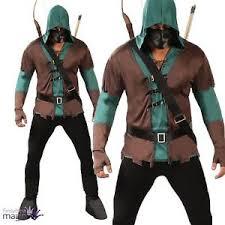Robin Halloween Costume Men Men Masked Robin Hood Medieval Archer Hunter Halloween Fancy