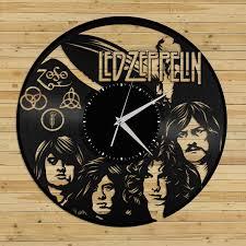 wall clock led zeppelin wall clock vinyl record clock led