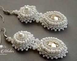 Chandelier Earrings Unique Chandelier Earrings Mint Peach Earrings Mint Coral Pink Chandelier Earrings