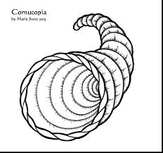 empty cornucopia basket coloring pages pdf fruit pilgrim