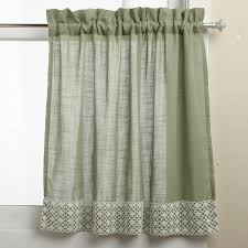 amazon com lorraine home fashions salem 60 inch x 24 inch tier amazon com lorraine home fashions salem 60 inch x 24 inch tier curtain pair sage home kitchen