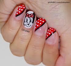 disney u0027s minnie mouse nails youtube