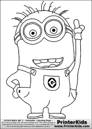 despicable 2 minion 1 pointing coloring bulletin