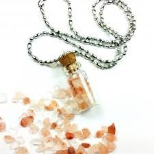 bottle necklace images Pink salt bottle necklace jpg