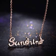 plated name necklace charming shape gold plated 925 silver name necklace