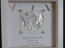 25 year anniversary gift ideas for 53 gift ideas for tin wedding anniversary 10 year anniversary