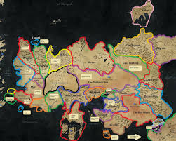 Map Westeros A Song Of Ice And Fire A Map Of Westeros And Essos