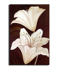 pai 1 piece abstract painting flowers of modern home decoration
