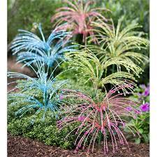 glass beaded spray garden stakes set of 2 decorative garden