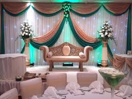 backdrop for wedding wedding backdrop swags gold and green swags for backdrop design