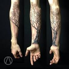 tree limb tattoos branch with leaves ideas