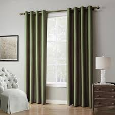 Curtain Drapes Piece Solid Color Window Curtains For Living Room Bedroom Blackout