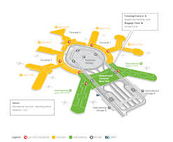 Seattle Airport Map Terminal by Airlines At Sfo Http Www Flysfo Com