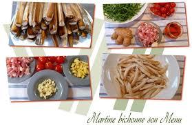 cuisiner des couteaux couteaux à la crème de roquette martine bichonne menu